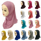 Girls Kids Muslim Hijab Hats Islamic Arab Scarf Caps Shawls Wrap Headwear Cover