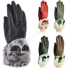 Wholesale Lot Women  s Dressy Winter Gloves Leather Thermal Lining Fur Trim Cuff