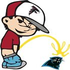 Atlanta Falcons Piss On Carolina Panthers Vinyl Decal CHOOSE SIZES $3.99 USD on eBay