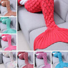 US Super Cozy Comfy Snuggle Woolen Yarn Mermaid Tail Blanket Sleeping Bag Unisex image