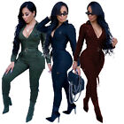 Внешний вид - Women Long Sleeves Zipper Casual Fashion Club Party Bodycon Tracksuit Jumpsuit