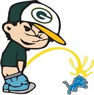 Green Bay Packers Piss On Detroit Lions Vinyl Decal CHOOSE SIZES $6.49 USD on eBay