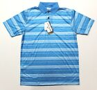Men's Grand Slam On Course Striped Golf Polo Shirt (GSKS80P0) Atomic Blue