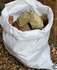 ROBUST WHITE WOVEN HEAVY DUTY RUBBLE BAGS/SACKS STITCHED TOP AND BOTTOM
