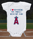 Los Angeles Angels Onesie Love Watching With My Aunt Shirt Bodysuit on Ebay