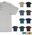 Carhartt K84 Mens Henley Pocket T shirt Heavyweight Jersey cotton Top WorkWear