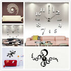 Modern DIY Wall Clock Sticker Small/ Large Number 3D Mirror Surface Home Decor