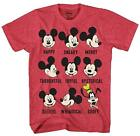 Disney Mickey Mouse Goofy Moods World Funny Humor Adult Mens Graphic T-shirt Tee