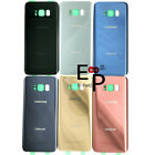OEM Battery Cover Glass Housing Back Door + Tape For Samsung Galaxy S8 / S8 Plus
