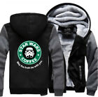 Warm Thicken Star Wars Coffee Hoodie Jacket Cosplay Sweater fleece coat F/S $66.31 CAD on eBay
