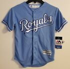 NWT Kansas City Royals Majestic Cool Base Youth S 8 Jersey