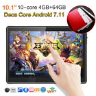 "HD 10.1"" Android 7.11 4G 64G Tablet Unlocked Dual 3G SIM Deca Core WiFi Phablet"