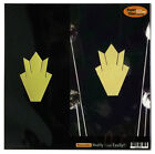 Inlay Stickers Decals Guitar Headstock Peghead Closed Crown (GD)  - 2 pcs SET for sale