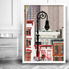 NEW YORK Buildings Lamp ART PRINT Abstract Photo Framed or Poster Perfect Gift