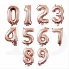 1pc Number 0-9 Foil Balloon 16inch digit Air Helium Globos Baby Shower  Party