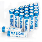 4-20packs AA AAA Rechargeable Ni-MH 1.2V Batteries - AA / AAA attery Charger NEW