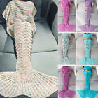 Adult Crocheted Fish Scale Mermaid Tail Blanket Soft Warm Knitting Sleeping Bag image