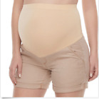 A Glow Women's Maternity Full Panel Cuffed Shorts in 3 Colors 2,4, 10,12,14, 16