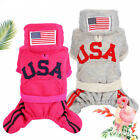 Winter Dog Jumpsuit USA Small Pet Apparel Warm Clothing Yorkie Outfit Puppy Coat