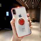 Case for iPhone X XS XR Max Magnetic Car & 360 Shockproof Ring Clear Stand Cover
