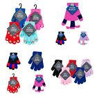 Kyпить Childrens magic gloves boys girls winter warm 3-8 years red black blue pink grey на еВаy.соm