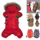 Winter Small Pet Dog Cat Hoodie Down Jacket Puppy Warm Coat Jumpsuit Clothes 1x