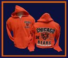 CHICAGO BEARS Monsters Are Back Hoodie ORANGE Zipper Hooded Sweatshirt  2 Sided