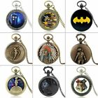 Antique Design Vintage Pocket Quartz Watch Pendant Necklace Chain Retro Gift New image