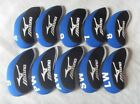 10PCS Golf Protective Iron Covers for Mizuno Club Headcovers 4-LW Blue Red Sets