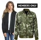 members only girl s elongated satin boyfriend bomber youth jacket camo rose new