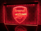 Arsenal LED Sign Soccer Football Sky Sports Birthday Rossi Ducati Jeep Frame