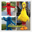 2018 Fancy Big Bird Elmo Cookie Sesame Street Mascot Costume Dress Adult Cosplay