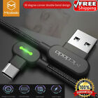 MCDODO 90 Degree Right Angle USB-C Type C Charging Cable Samsung Note 20 S20 S10