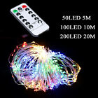 20/50/100 LED String Battery Operated Copper Wire Fairy Lights Xmas Party Decor