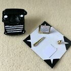 1:12 Scale DESK BLOTTER/TYPEWRITER Calendar/Ink Well/Pen/Pad/Clipboard