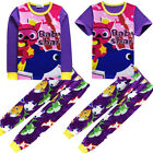 Belpashe Kids Boys Girls Baby Shark Pyjamas Nightwear Sleepwear PJS Set 3-10Y