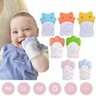 Soft Silicone Baby Teething Mitten Teether Glove Candy Wrapper Sound Mitts 1pc