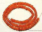 "Carnelian 3.5-4mm/4-4.5mm/4.5-5mm Faceted Rondelle Beads 14"" str (Select-A-Size)"
