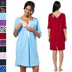 Happy Mama. Women's Labor Delivery Hospital Gown Breastfeeding Maternity. 539p
