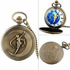 Retro Vintage Pocket Quartz Watch Chain Antique Necklace Pendant Steampunk Gift
