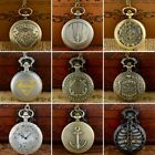 Retro Vintage Pocket Quartz Watch Chain Antique Necklace Pendant Steampunk Gift image