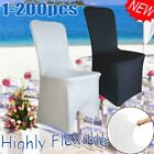 SALE! White Chair Seat Cover Full Spandex Lycra Folding Banquet Wedding Party AU
