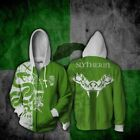 Harry Potter Gryffindor Slytherin Men Women Hoodies Sweatshirt Zip Jacket Coats