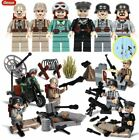 WW2 Military Soldiers France US Britain Italy Army + Weapon For Lego
