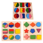 Kids Baby Wooden Learning Geometry Block Educational Toys Puzzle Montessori