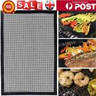 BBQ Grill Mat Teflon Reusable Sheet Resistant Non-Stick Barbecue Bake Meat~LY