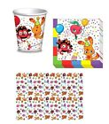 MOSHI MONSTER PARTY TIME Kids Tableware Cups Napkins Tablecover BIRTHDAY Party