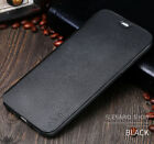 Genuine X-Level Leather Wallet Flip Card Stand Case Cover For iPhone & Samsung