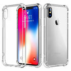 For (ALL) Apple iPhones, S9, Note 9 Case Silicone Clear Bumper Gel iPhone Cover