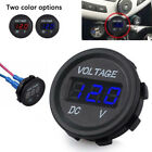 Внешний вид - 5-48V car marine motorcycle led digital voltmeter voltage meter battery ga HI
